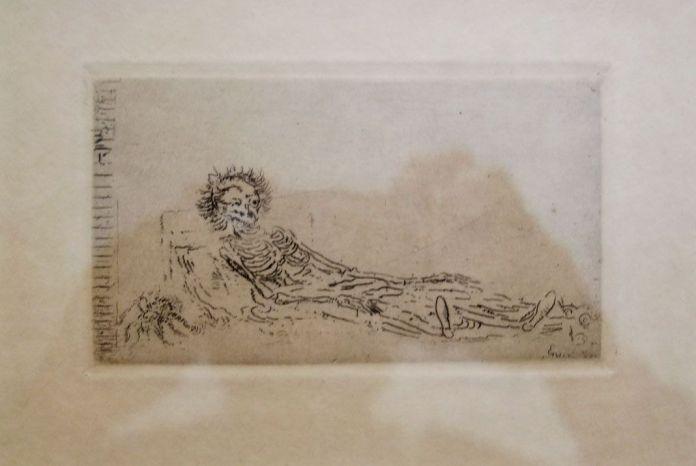 James Ensor, Mon portrait en 1960, 1888 - James Ensor et Alexander Kluge - Siècles noirs à la Fondation Van Gogh Arles
