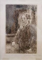 James Ensor, Mon portrait squelettisé, 1889 - James Ensor et Alexander Kluge - Siècles noirs à la Fondation Van Gogh Arles