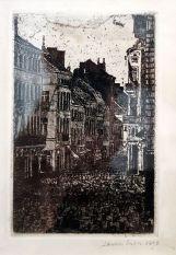 James Ensor, Musique rue de Flandre, Ostende i, 1890 - James Ensor et Alexander Kluge - Siècles noirs à la Fondation Van Gogh Arles
