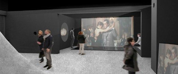 On danse - Projet Scénographie - Esquisse de la fin de l'exposition—Vue 3D © ceciledegos.com
