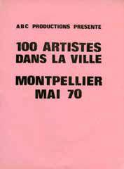 100 artistes dans la ville - 1970 - Affiche