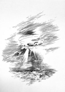 Abdelkader Benchamma - Airship 3, 2016 - La rumeur des cercles à la Galerie chantiers BoiteNoire
