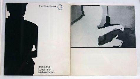 Lourdes Castro - 1966 dépliant - Ombres et compagnie au MRAC à Sérignan