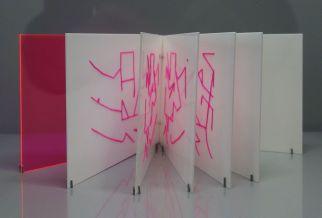 Lourdes Castro - Livre brodé - Cabinet d'arts graphiques - Ombres et compagnie au MRAC à Sérignan
