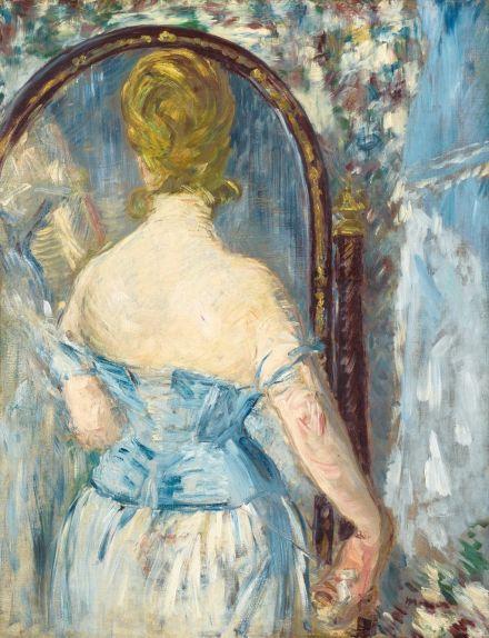 Édouard Manet (1832-1883), Devant la glace, 1876, huile sur toile, 93 x 71,6 cm Solomon R. Guggenheim Museum, New York, Thannhauser Collection, don Justin K. Thannhauser, 78.2514.27