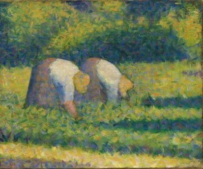Georges Seurat (1859-1891), Paysannes au travail, 1882-1883, huile sur toile, 38,5 x 46,2 cm Solomon R. Guggenheim Museum, New York, Solomon R. Guggenheim Founding Collection, don, 41.713