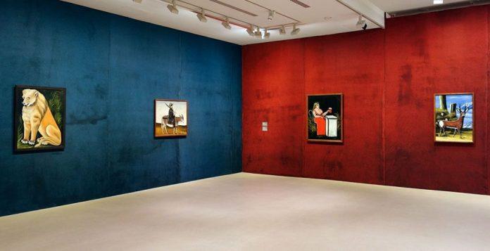Niko Pirosmani à la Fondation Vincent van Gogh Arles - Vue de l'exposition