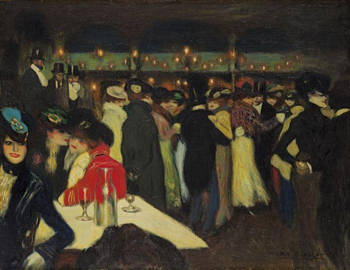 Pablo Picasso (1881-1973), Le Moulin de la Galette, Paris, vers novembre 1900, huile sur toile, 89,7 x 116,8 cm Solomon R. Guggenheim Museum, New York, Thannhauser Collection, don Justin K. Thannhauser, 78.2514.34 © Succession Picasso 2019
