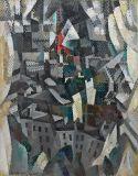 Robert Delaunay (1885-1941), La Ville, 1911, huile sur toile, 145 x 112 cm Solomon R. Guggenheim Museum, New York, Solomon R. Guggenheim Founding Collection, don, 38.464 Exposé à la Moderne Galerie Heinrich Thannhauser, Munich, lors de la première exposition du Blaue Reiter, 1911-1912