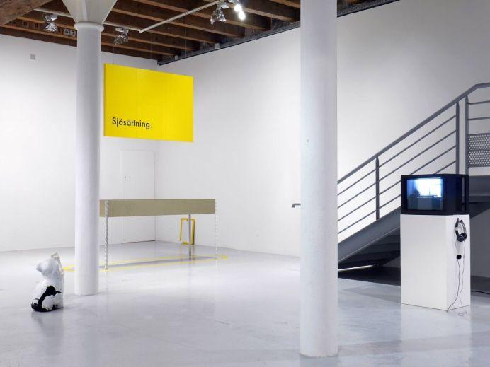 Sud magnétiques - vue de l'exposition - Avec Jérémy Vassili, Ilyes Mazari et Norman Nedellec - photo Videochroniques