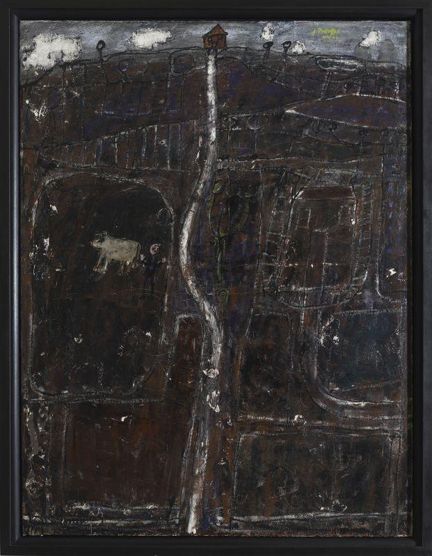 Jean Dubuffet, Paysage vineux, août 1944, huile sur toile, 125 × 95cm. Centre Pompidou, Paris - Musée national d'art moderne/Centre de création industrielle © Centre Pompidou, MNAM-CCI, Dist. RMN-Grand Palais/Georges Meguerditchian © Adagp, Paris2019