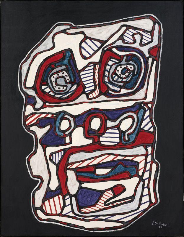 Jean Dubuffet, Réchaud four à gazII, mars 1966, huile sur toile, 116 × 89cm. Louisiana Museum of Art, Humlebaek, Danemark © Louisiana Museum of Modern Art. Donation.: The Joseph and Celia Ascher Collection, New York © Adagp, Paris2019.