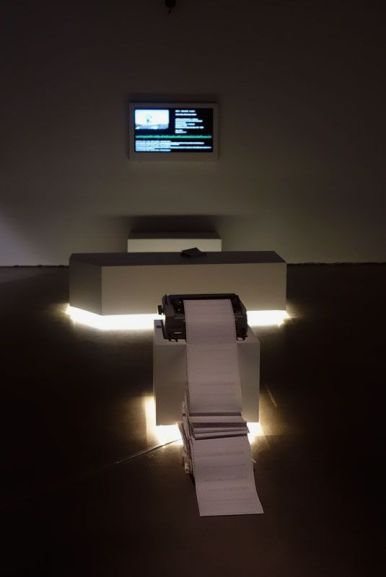 Véronique Béland, This is Major Tom to Ground Control, 2012 - Un autre monde dans notre monde - Frac PACA - Plateau 1 - Photo En revenant de l'expo !