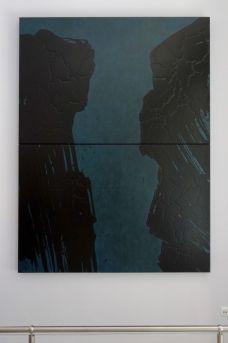 Fabienne Verdier, La Brèche des Moines avant le lever du jour, Prieuré Sainte-Victoire, 2018 - Su les terres de Cezanne au Musée Granet - Hall