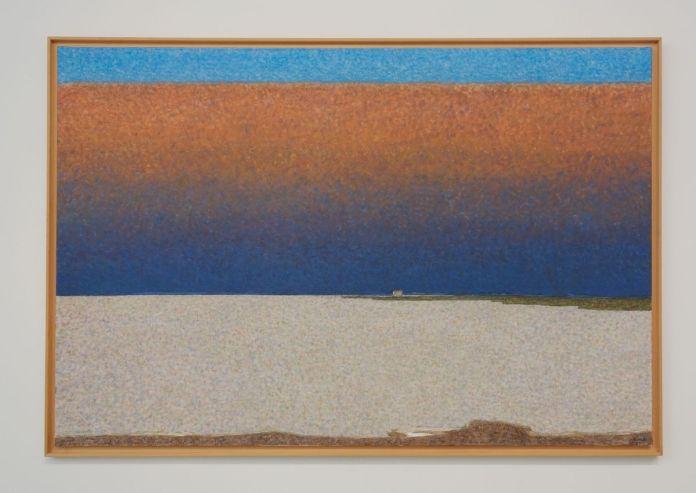 Vincent Bioulès - L'étang de l'or, 2015 - Chemins de traverse - Le paysage, cette joie fondatrice au Musée Fabre