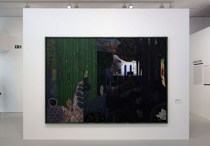 Vincent Bioulès - Le jardin de l'enclos, 1984 - Chemins de traverse - Habiter la peinture au Musée Fabre