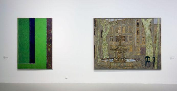Vincent Bioulès - Sans titre, 1976 et Place des neuf jets à Céret, 2007 - Chemins de traverse - La série des places, la ville comme un décors d'opéra au Musée Fabre