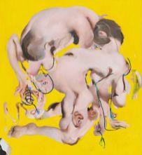 Ambera Wellmann, Yurning, 2019, oil on linen, 152 x 140 cm, Courtesy The artist; Kraupa-Tuskany Zeidler, Berlin, The artist; Kraupa-Tuskany Zeidler, Berlin