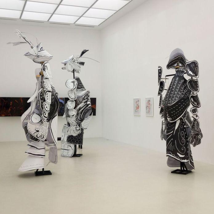 Léonard Martin - Figures géantes n° 1, 2 et 3, 2019 - Viva Villa 2019 - Collection Lambert