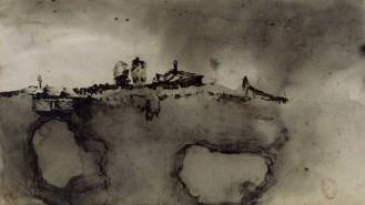 Victor Hugo – Taches, vers 1856 ou 1862 plume, encre brune, lavis et estompe de graphite. 129 x 138 cm Paris, Bibliothèque nationale de France - département des manuscrits © BnF