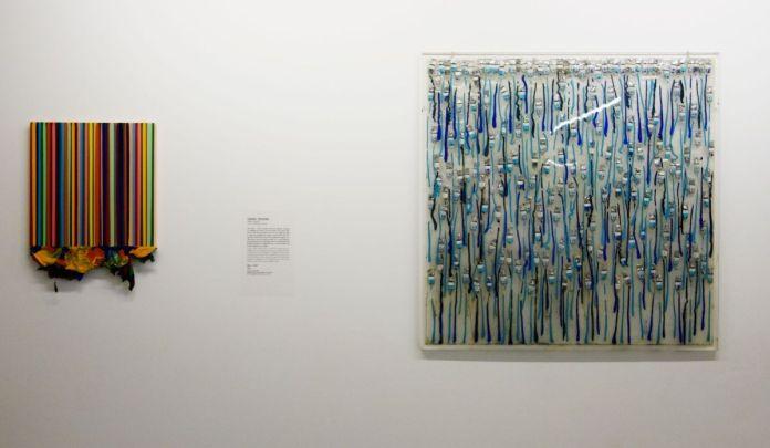 Cédric Teisseire – Alias...15-97, 1997 et Arman – Azurs, 1968 - Par hasard à la Friche la Belle de Mai - Marseille - Vue de l'exposition