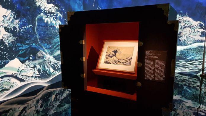 Hokusai, Hiroshige, Utamaro - Vue de l'exposition à l'Hôtel de Caumont Aix-en-Provence © Claudine Colin Communication