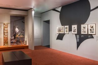 Hokusai, Hiroshige, Utamaro - Vue de l'exposition à l'Hôtel de Caumont Aix-en-Provence © Culturespaces - S. Lloyd