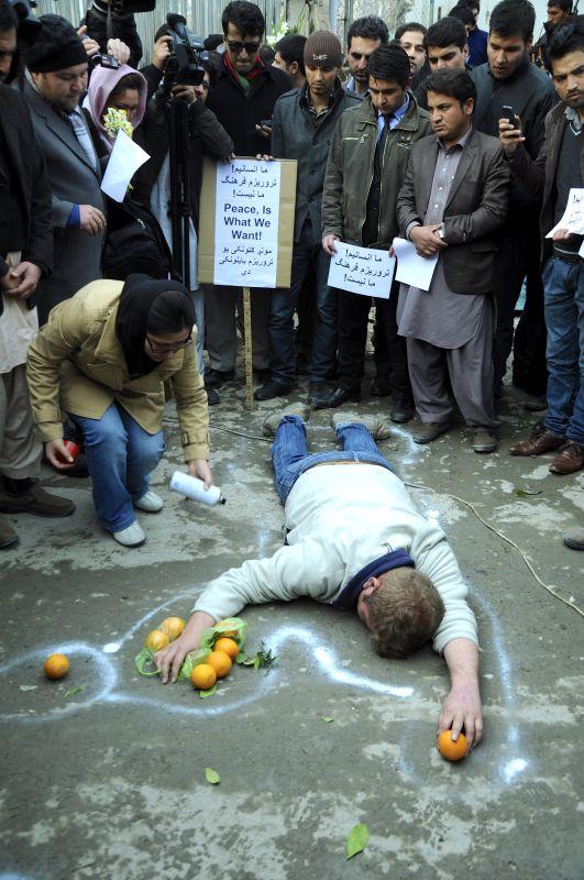Kaveh Ayreek, Ghorbanian [Victimes], Kaboul, 19janvier 2014 ©Photo Hadi Moravedj