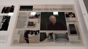 Pierre Soulages - Musée Fabre - Salle 46c - vitrine