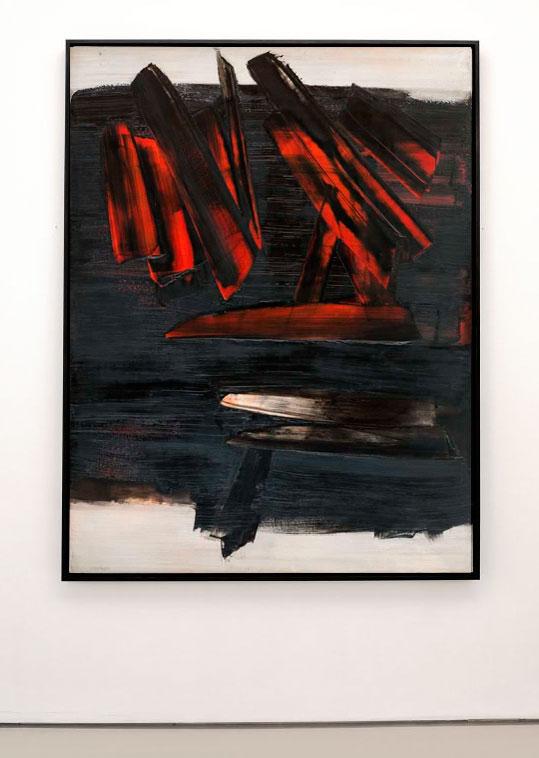 Pierre Soulages - Pierre SOULAGES, Peinture, 162 x 114 cm, 28 décembre 1959 - Musée Fabre - Salle 46b