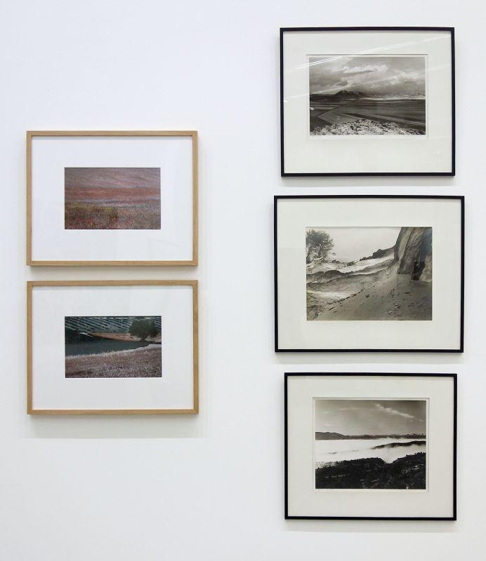 José Valabrègue - Coquelicots, 1989 - Lavandes et blés, 1989 et Alain Ceccaroli - Sierra Nevada, Andalousie, 1983 - Sablières, 1982 - Huescar-Andalousie, 1982