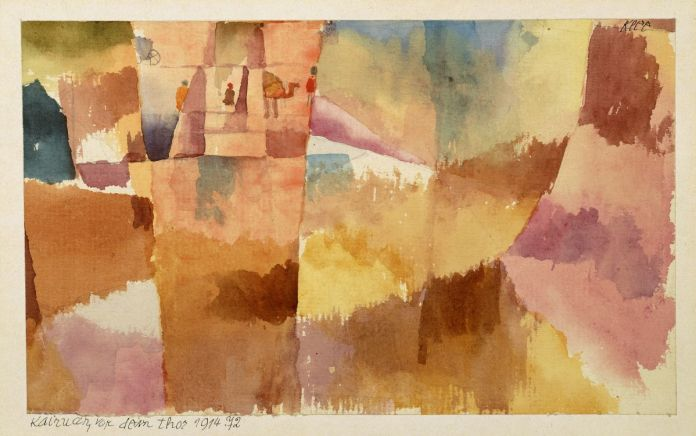 Paul Klee, Kairouan, devant la porte, 1914