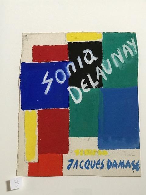 Sonia Delaunay, étude pour la couverture d'un livre édité par Jacques Damase - Exposition Patterns 7 Clous à Marseille