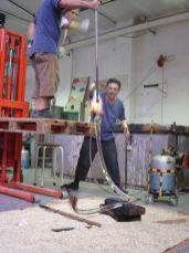 Christophe Berdaguer dans l'atelier, 2009 - Photo Cirva