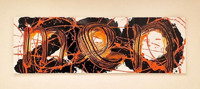 Dominique Figarella - Tigre, 2018 acrylique sur alucore, 70 x 210 cm
