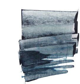 Emma Godebska - Série Chine, acrylique et pigments sur papier, 40 x 30 cm, 2019