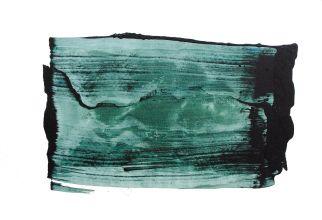 Emma Godebska - Série Vert equinoxe, acrylique et pigments sur toile, 80 x 120 cm, 2019
