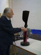 Ettore Sottsass dans l'atelier, 2000 - Photo Cirva