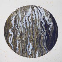 Eve Maillot - Série 300 ans +, encre (blanche et or) sur papier, 33 x 33 cm, 2019-2020