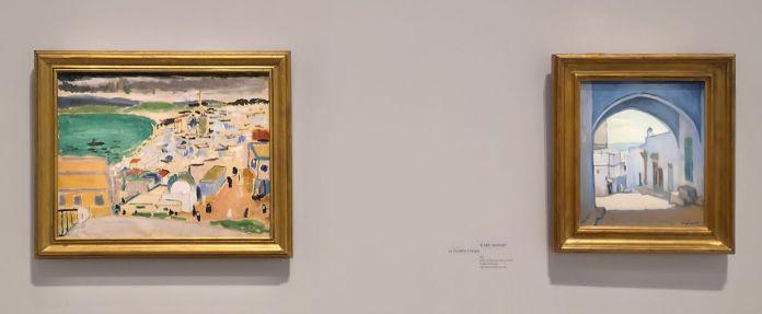 Henri Matisse - Vue sur la baie de Tanger, 1912-1913 et Albert Marquet - La Citadelle à Tanger, 1913 - Voyage Voyages au Mucem