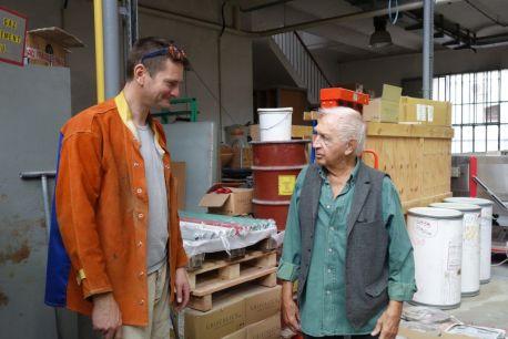 Jimmie Durham et David Veis, 2016 - Photo C. Capelle - Cirva