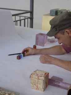 Lieven De Boeck dans l'atelier, 2014 - Photo Cirva