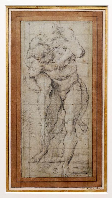 Annibale Carracci - Amphinomus sauvant son père - Art & Anatomie - Musée Fabre
