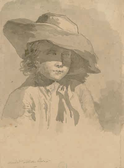 Hubert Robert, Portrait de jeune garçon, probablement Thomas Charles Naudet, XVIIIe siècle
