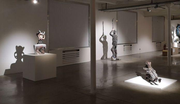 Michel Gouéry - Narativitélé, 2019 - Gisant mobile, 2012 et David et l'œil de Goliath, 2012 - Street Trash - Friche La Belle de Mai