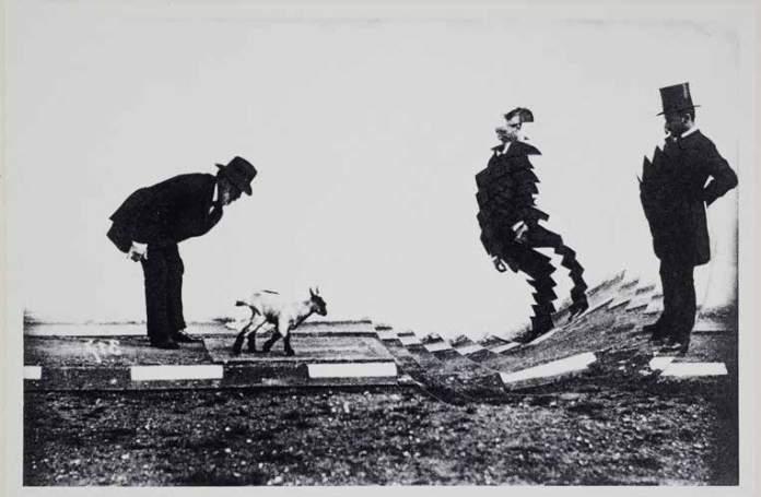 Pol Bury (1922-2005). Images pour la théorie de la démarche, ensemble d'essais d'Honoré de Balzac. La chèvre (2e état)