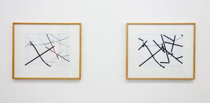 François Morellet - Géométree branchage première et deuxième version, 1982 - Mrac Sérignan - Accrochage des collections 2019-2020