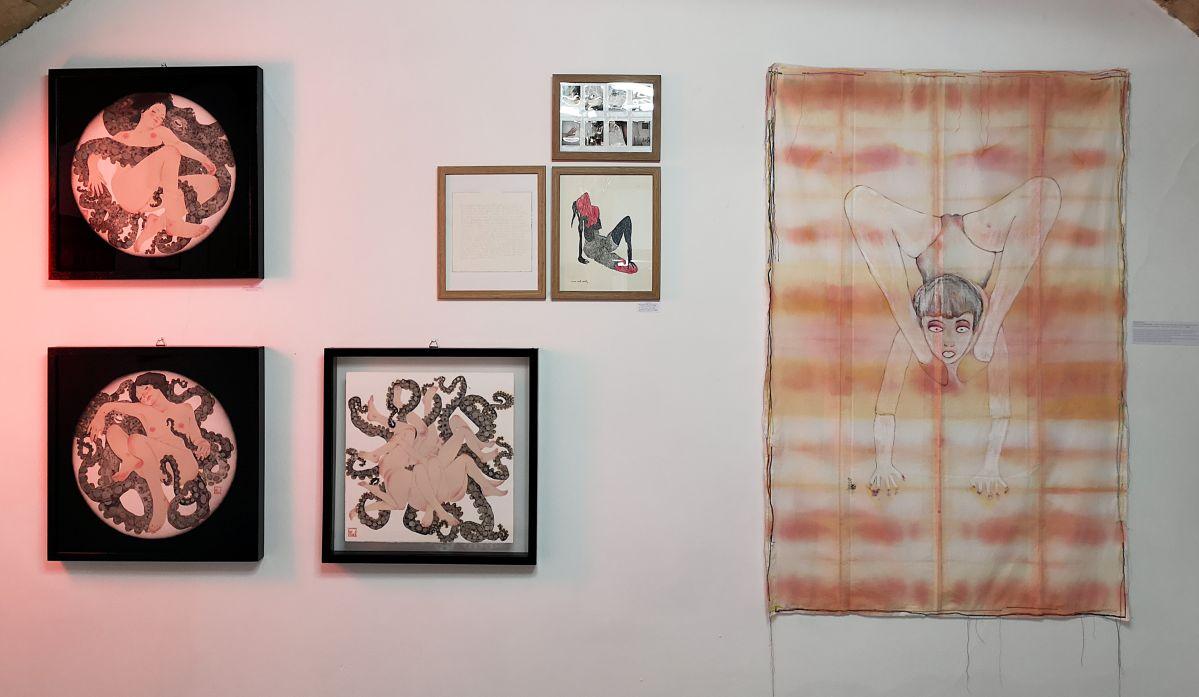 MmeS. - Julie Perin et Cendres Lavy - NO PROHIBIDA à la N5 galerie - Vue de l'exposition - Photo En revenant de l'expo !