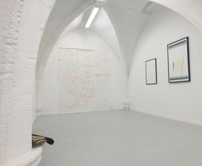 Nina Roussière - Les traces du futur - Vue de l'exposition à la galerie chantiersBoîteNoire - - Photo chantiersBoîteNoire