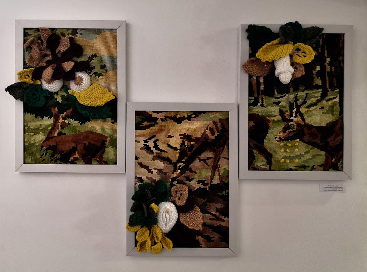 Stéphanie Lobry - Promenons-nous dans les bois, 2020 - NO PROHIBIDA à la N5 galerie - Vue de l'exposition - Photo En revenant de l'expo !